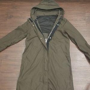 Zara Basic Outerwear Fall Green Jacket